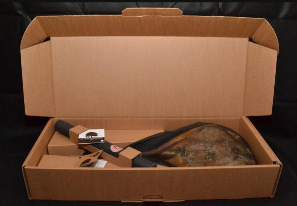 Noir de Bigorre AOC Ham on the Bone dried 24 months + NdB Knife + NdB Cutting Board